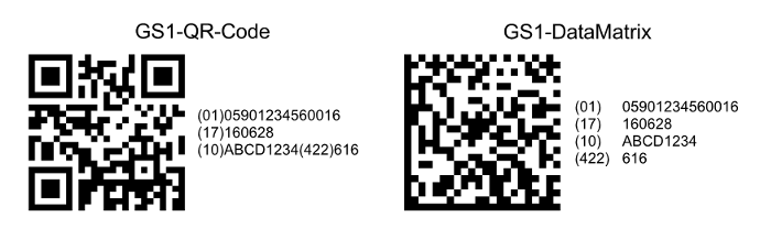 Heyer's Etiketten-Studio Pro - 2D-Codefeld:  GS1-QR-Code, GS1-Data Matrix