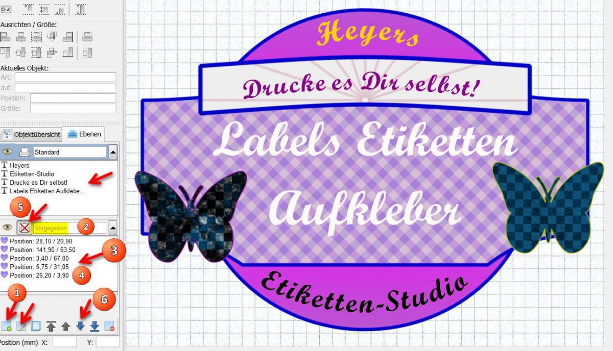 Heyer\'s Etiketten-Studio | Heyer\'s Druck- und Videoprogramme