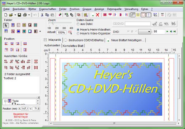 Heyer's CD+DVD-Hüllen
