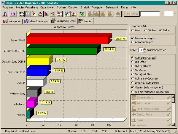 Heyer\'s Video-Organizer - Statistik / Aufnahme-Infos | Heyer\'s Druck ...